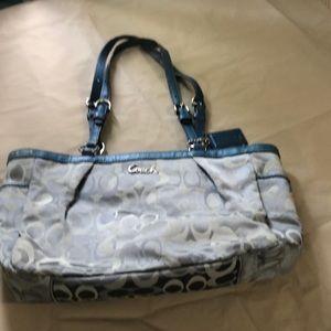 Blue Coach purse